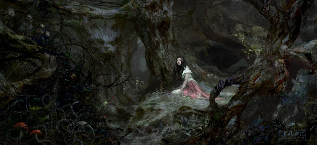 Black And White Tree Wallpaper Once Upon A Time Fashion And Action Snow White Amp The Huntsman Concept Art