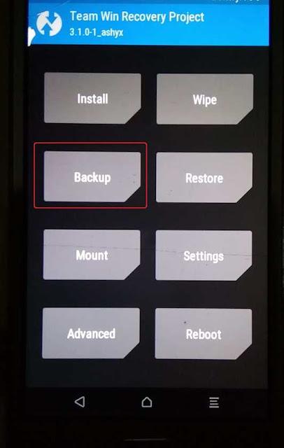 cara backup  dengan twrp
