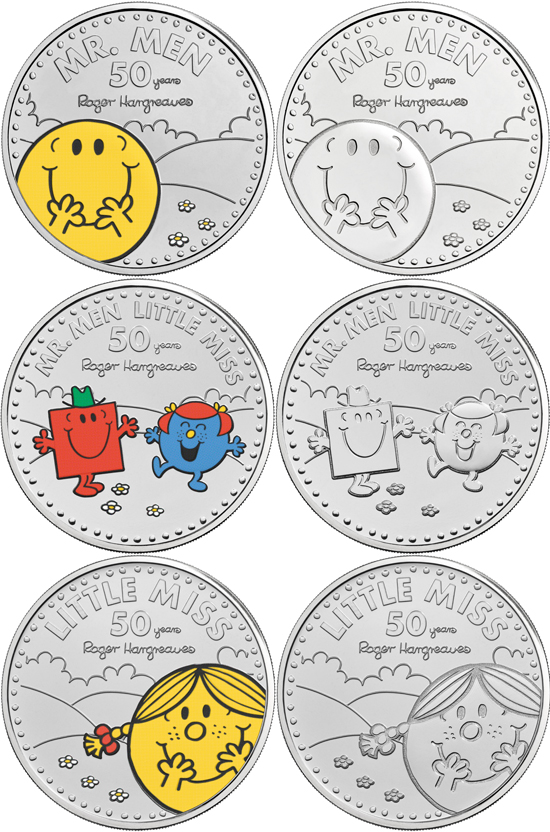 United Kingdom 5 pounds 2021 - Mr. Men and Little Miss