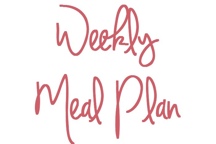 Meal Plan 9th - 15th January 2017