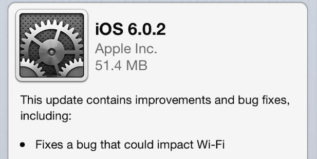 Download iOS 6.0.2 To Fix Wi-Fi issues (Direct Links)