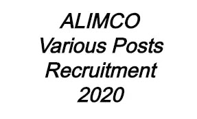 ALIMCO Various Post Recruitment 2020