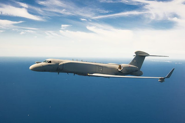 Chief of Staff of Italian Air Force flies aboard E-550 CAEW 'Extraordinary multi-sensor system'
