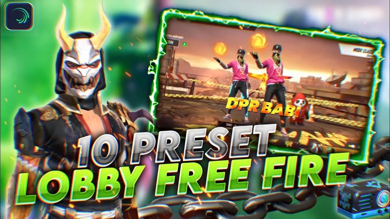 Download Preset Alight Motion Free Fire Lobby Terbaik Dan Cara Menggunakanya