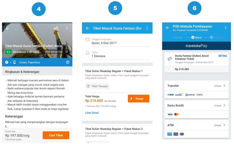 cara pesan tiket online wisata