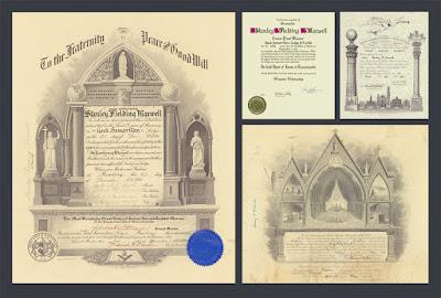 Stanley Fielding Maxwell. Grand Lodge of Massachusetts. Supreme Council. Scottish Rite, NMJ