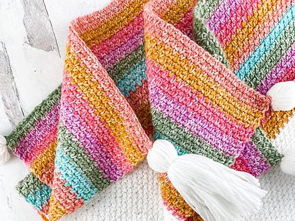 Free Crochet Linen Stitch Blanket Pattern