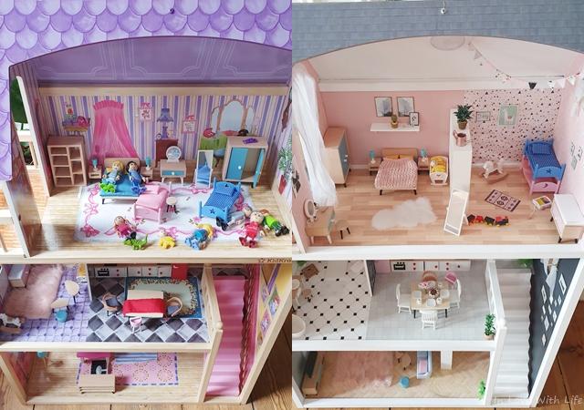 Puppenhaus renovieren DIY vorher nachher