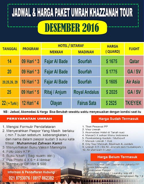 Paket Umroh Desember Binan Tour