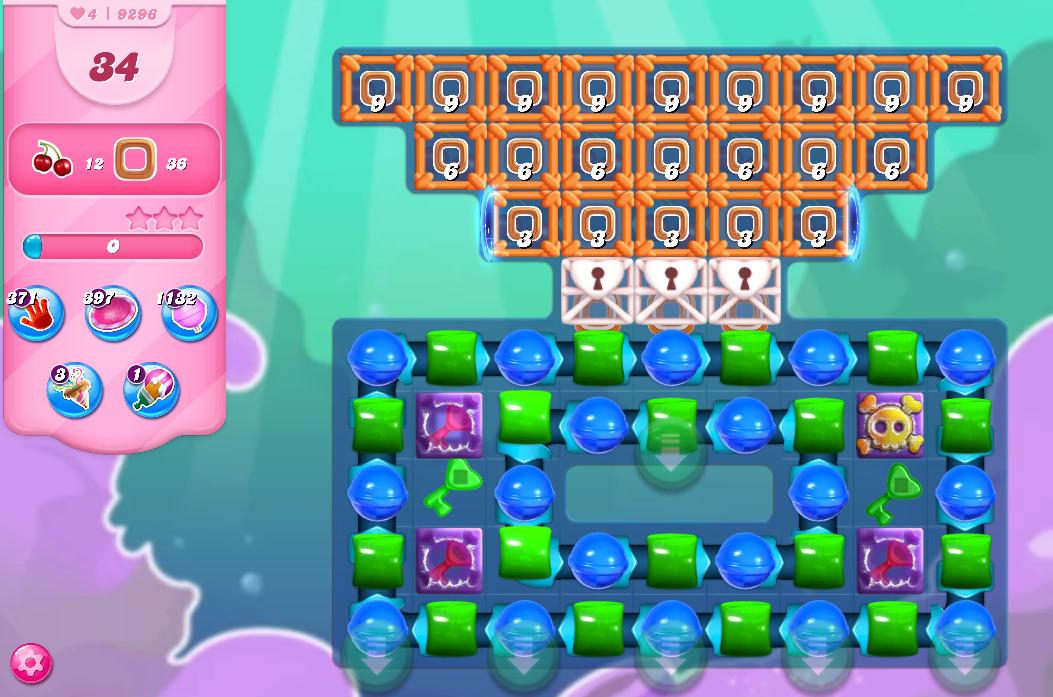 Candy Crush Saga level 9296