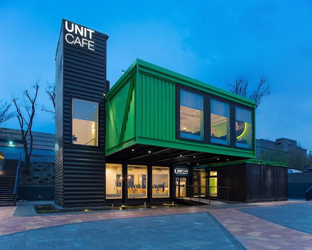 Unit Cafe - Shipping Container Restaurant, Kyiv, Ukraine 1