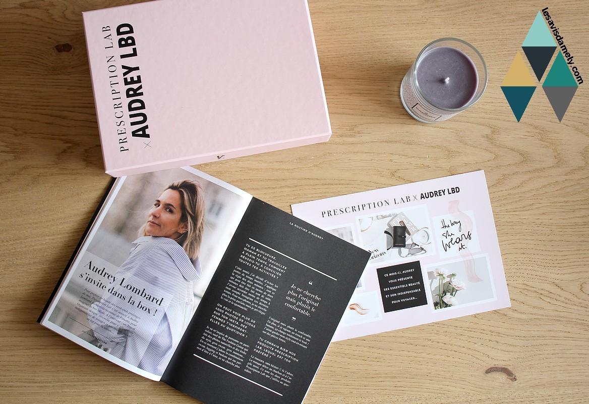 unboxing et avis prescription lab collaboration audrey lombard