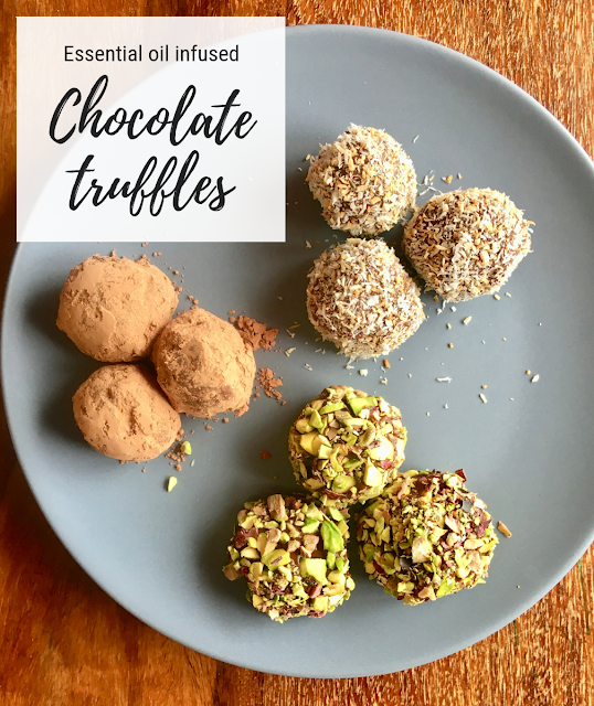 essential oil infused dairy free chocolate truffles - www.mywholefoodfamily.com