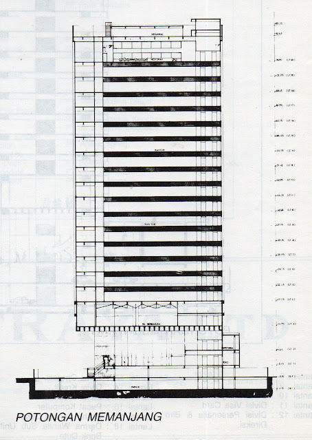Potongan Samping Menara Multimedia, 1985