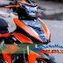 Sơn xe Exciter 150 màu cam đen tem đấu Duka [Exciter_SG2015]