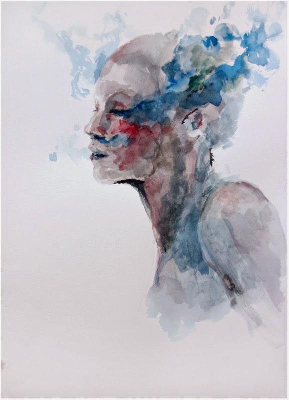 Profundo Suspiro Azul - Agnes-Cécile e suas principais pinturas ~ aquarela