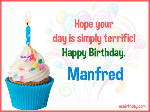 Happy Birthday Manfred