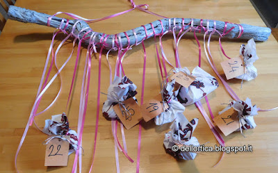 Calendario dell avvento ghirlande centrotavola decori natalizi confetture sali aromatici tisane lavanda rose della fattoria didattica dell ortica a Savigno Valsamoggia Bologna in Appennino vicino Zocca