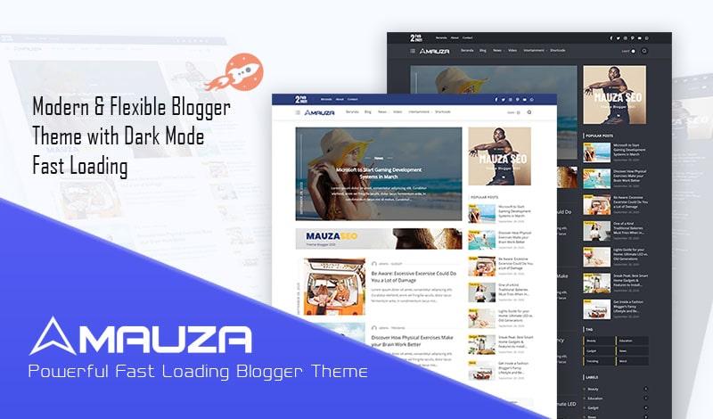Modelo de blogger responsivo de Mauza