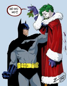Batman Vs The Joker Over Christmas