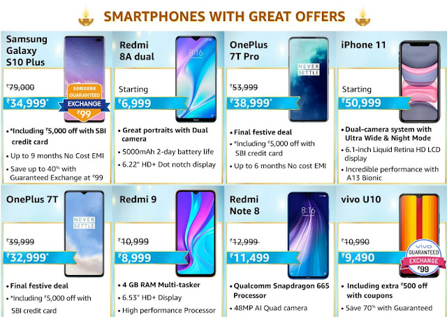 Amzone Great Indian Festival 2020 Best Smartphone Deals