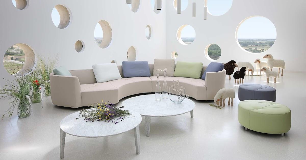 Runde Sofas Modern Beispiele