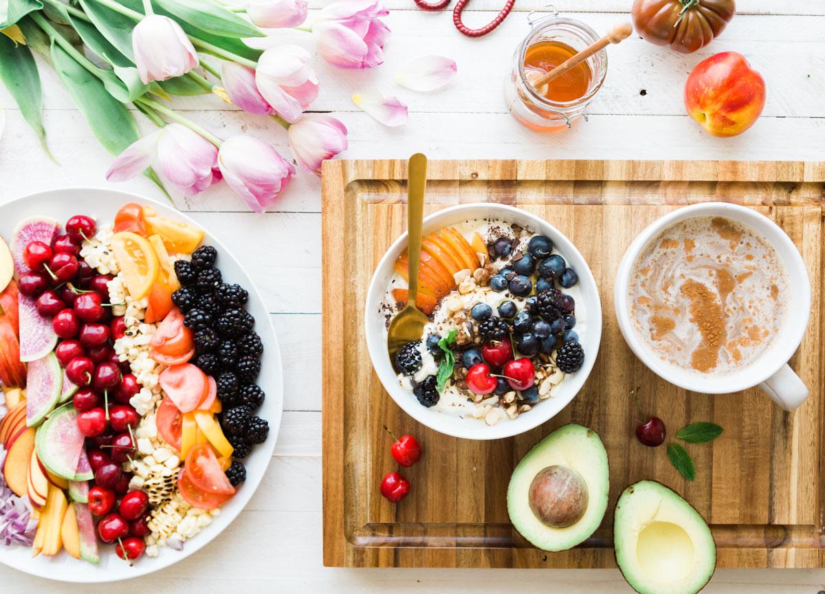 Teller mit Obst