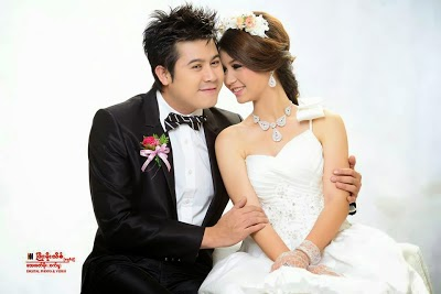 Nay Toe and Khin Wint Wah Charming Wedding Couple Fashion Photoshoot