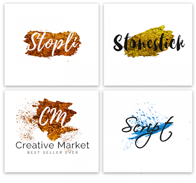 Typography Logos On Watercolor Free