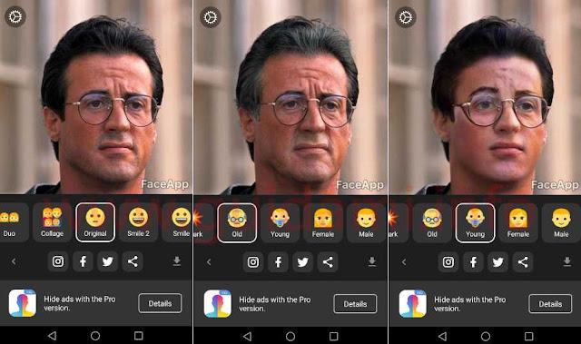 FaceApp Android e iOS foto viso trasformata con effetti