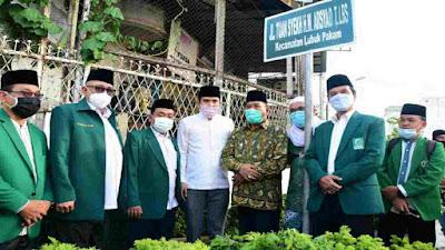 Bupati Deli Serdang Resmikan Jalan Tuan Syekh HM Arsyad Thalib Lubis Kecamatan Lubuk Pakam