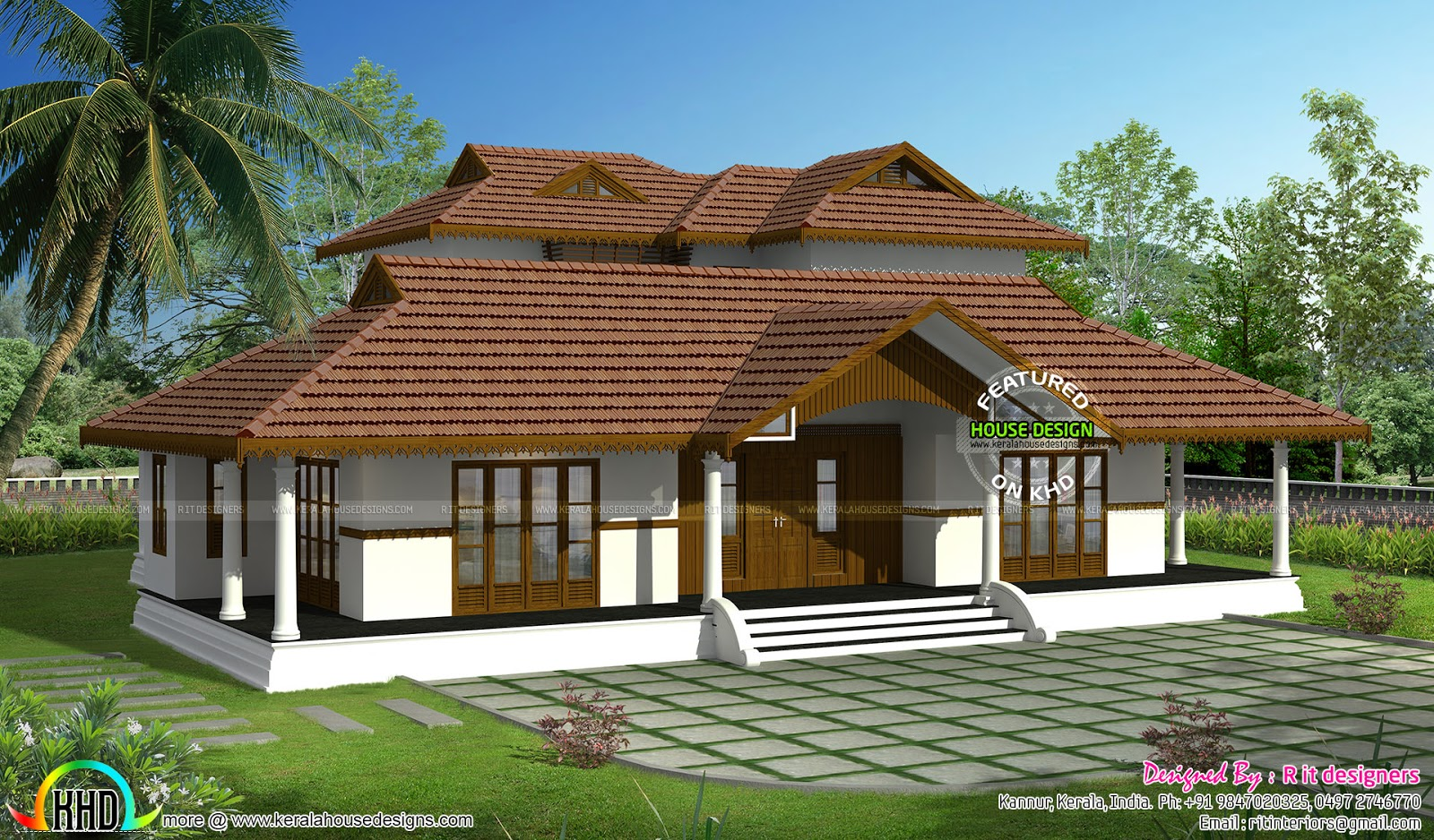 Kerala traditional home with plan kerala home design and for Conventional homes