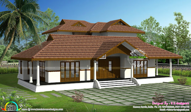 Kerala Traditional Home With Plan - Design And