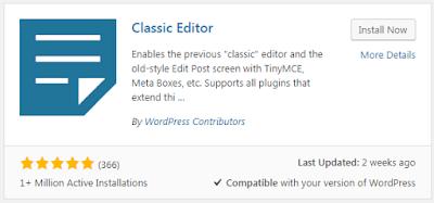 Cara Agar Tampilan Admin WordPress ke Versi Sebelumnya