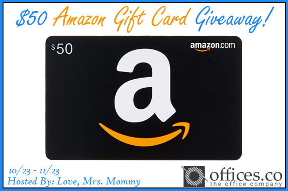 Offices.co $50 Amazon Gift Card Giveaway