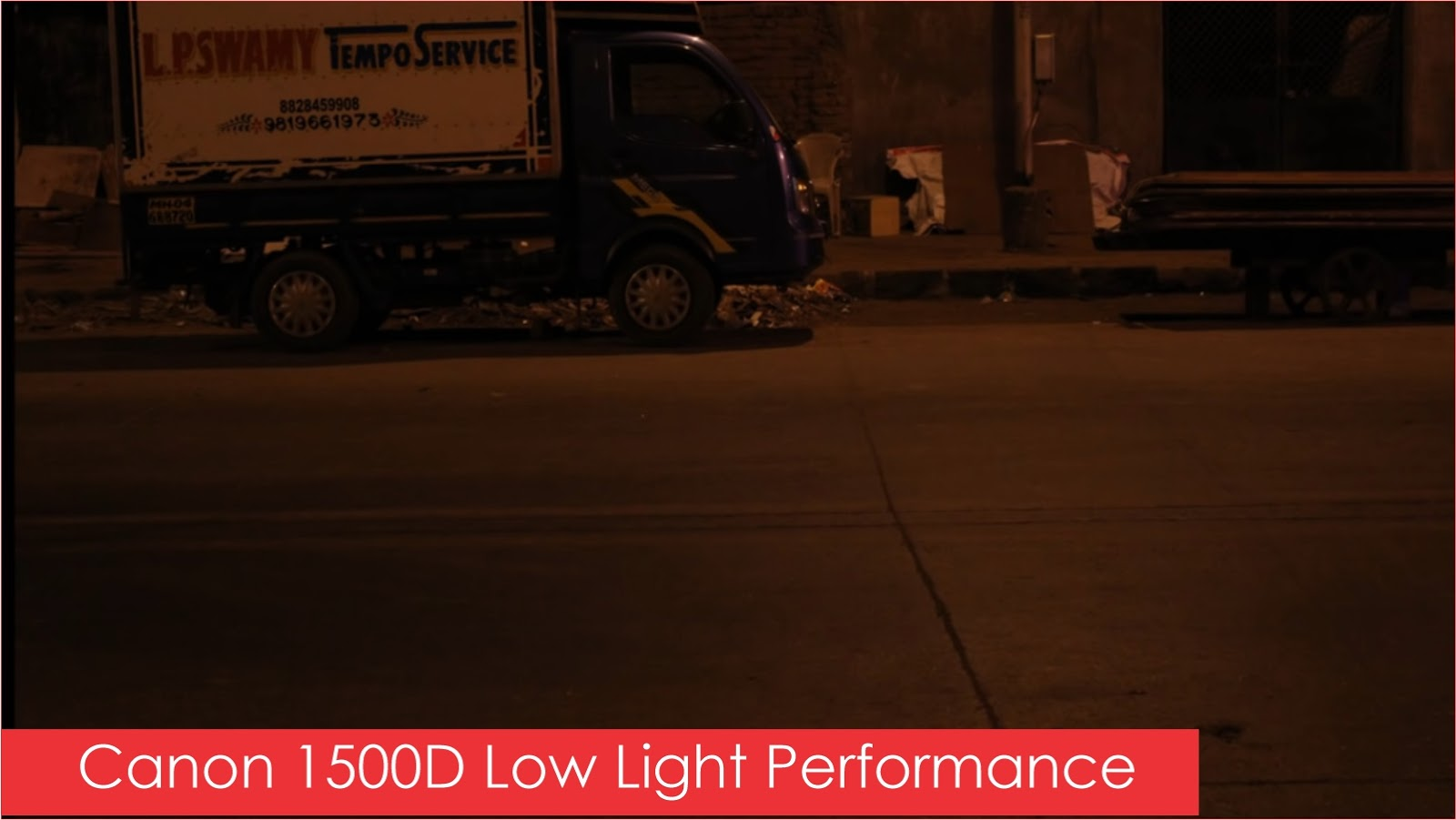 Canon 1500D Camera Low Light Image Performance