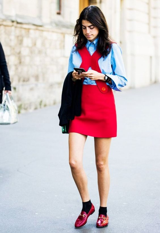Colour Combo to Try: Baby Blue + Red