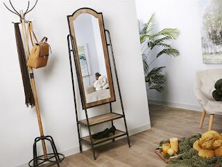 estanteria con espejo recibidor