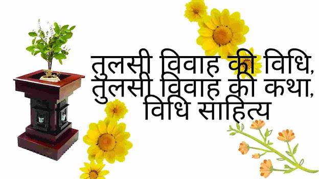 तुलसी विवाह की विधि | Tulsi Vivah Ki Vidhi - विधि साहित्य, तुलसी विवाह की कथा