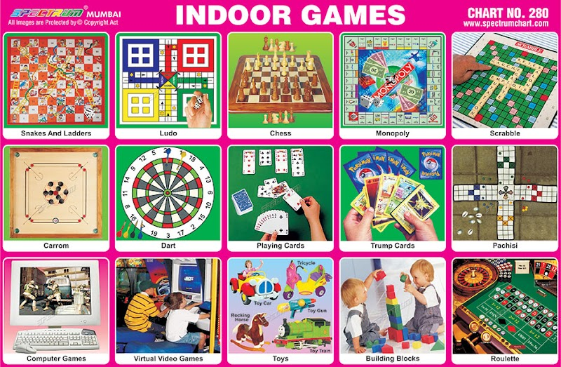 Indoor Games Picture Chart