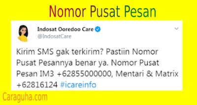 Nomor SMSC Pusat Pesan Indosat