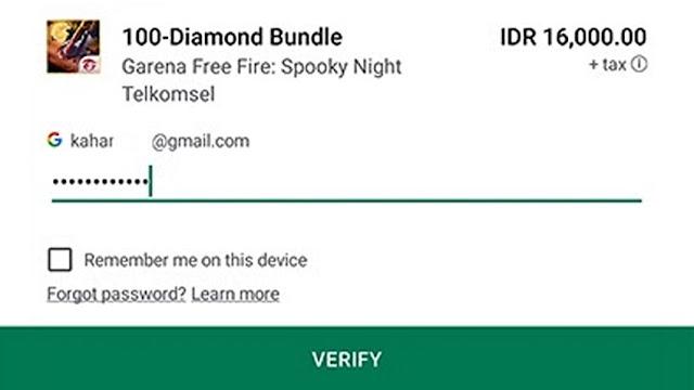 Tips dan Cara Top Up Game Free Fire (FF) di Google Play Via Pulsa Telkomsel