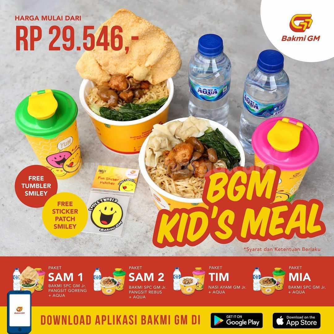 Promo BAKMI GM KID'S MEAL harga spesial mulai dari Rp. 29.456