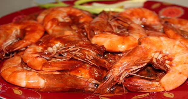 Sweet And Spicy Prawns Stir Fry Recipe