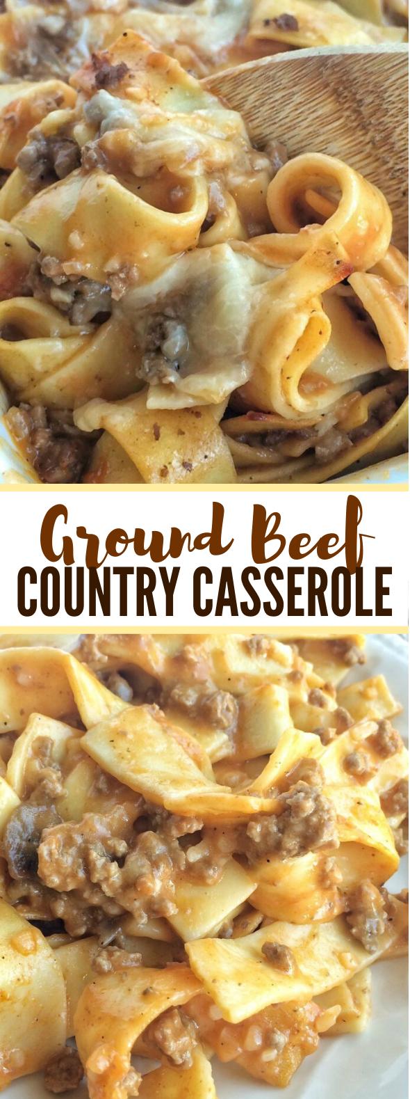 GROUND BEEF COUNTRY CASSEROLE #dinner #comfortfood