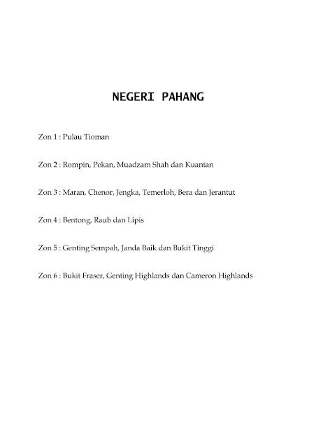 Jadual Waktu Imsak Dan Berbuka Puasa Negeri Pahang 1442H