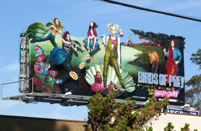 Birds of Prey movie billboard