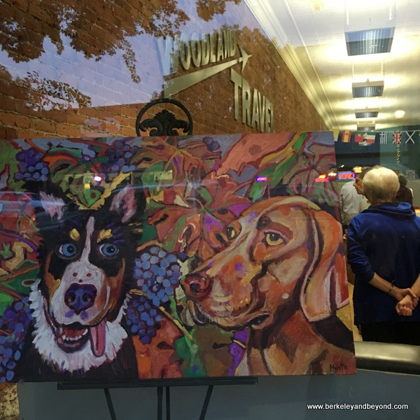 pet art at First Friday Art Walk in Woodland, California