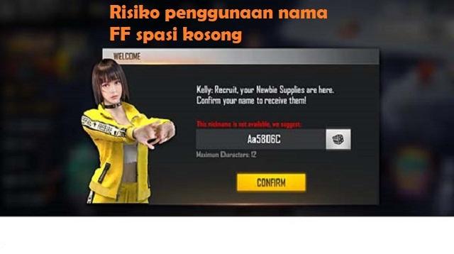 Nama FF Spasi Kosong