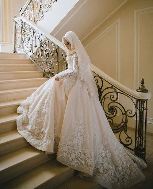 فستان زفاف للمحجبات انيق وعصري موديل 2020